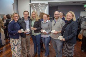 Susan Shay, Nick Falvey, Krystin Peach, Sara Stanley, Darcy Stevenson and Angela Harlen of ACS Engineers.