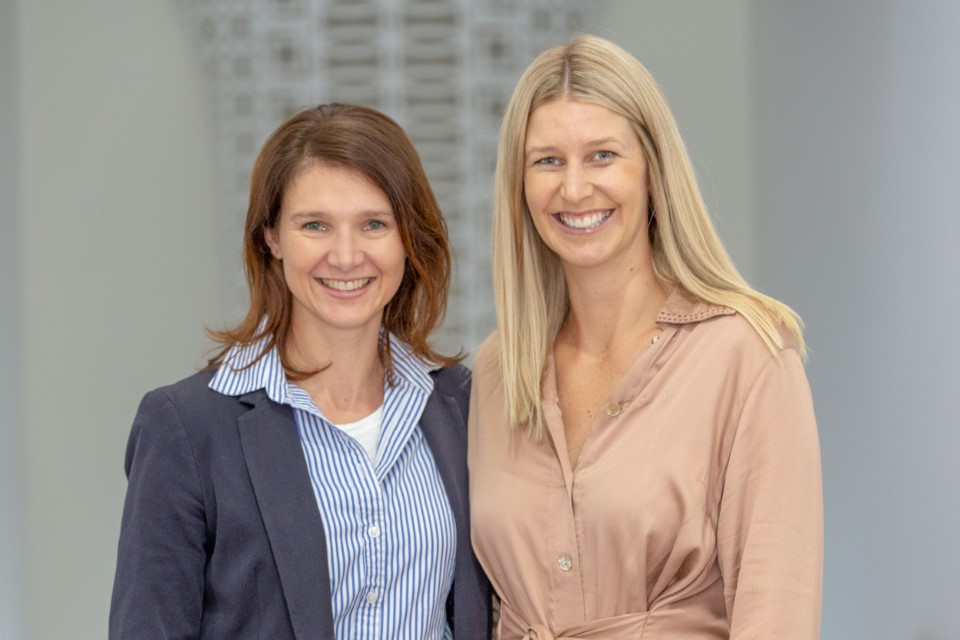 Canungra businesswomen Lyndall Browning and Nikki Hobbs of Alabaster Agency.