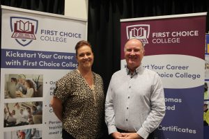 Helen Parkinson and Mike Bareham of First Choice College.