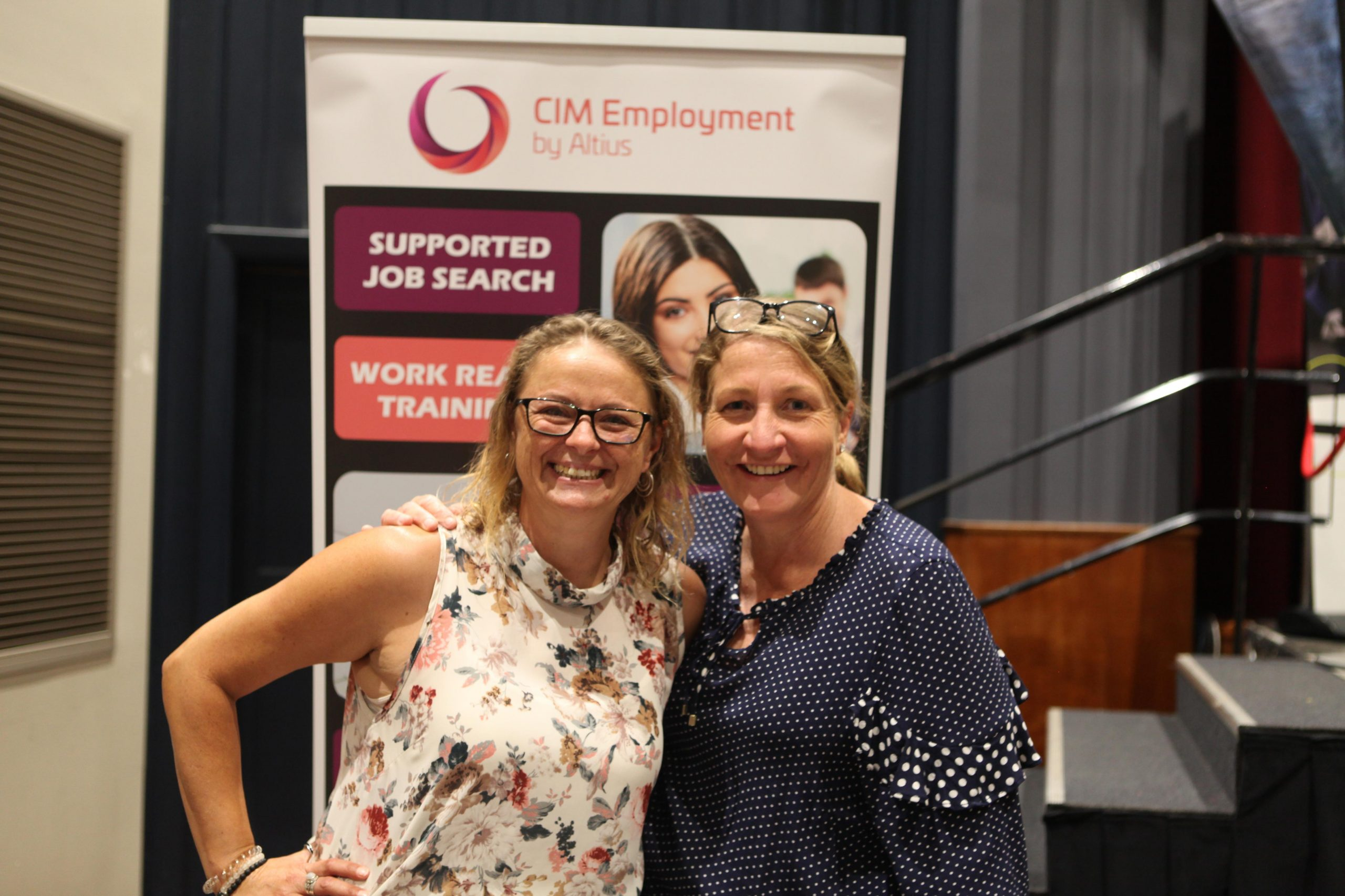 Peta-Anne Payne and Emma Rose of CIM Employment.