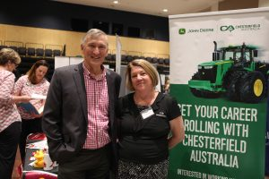 Mayor Greg Christensen and Sharon White of Chesterfield Australia.