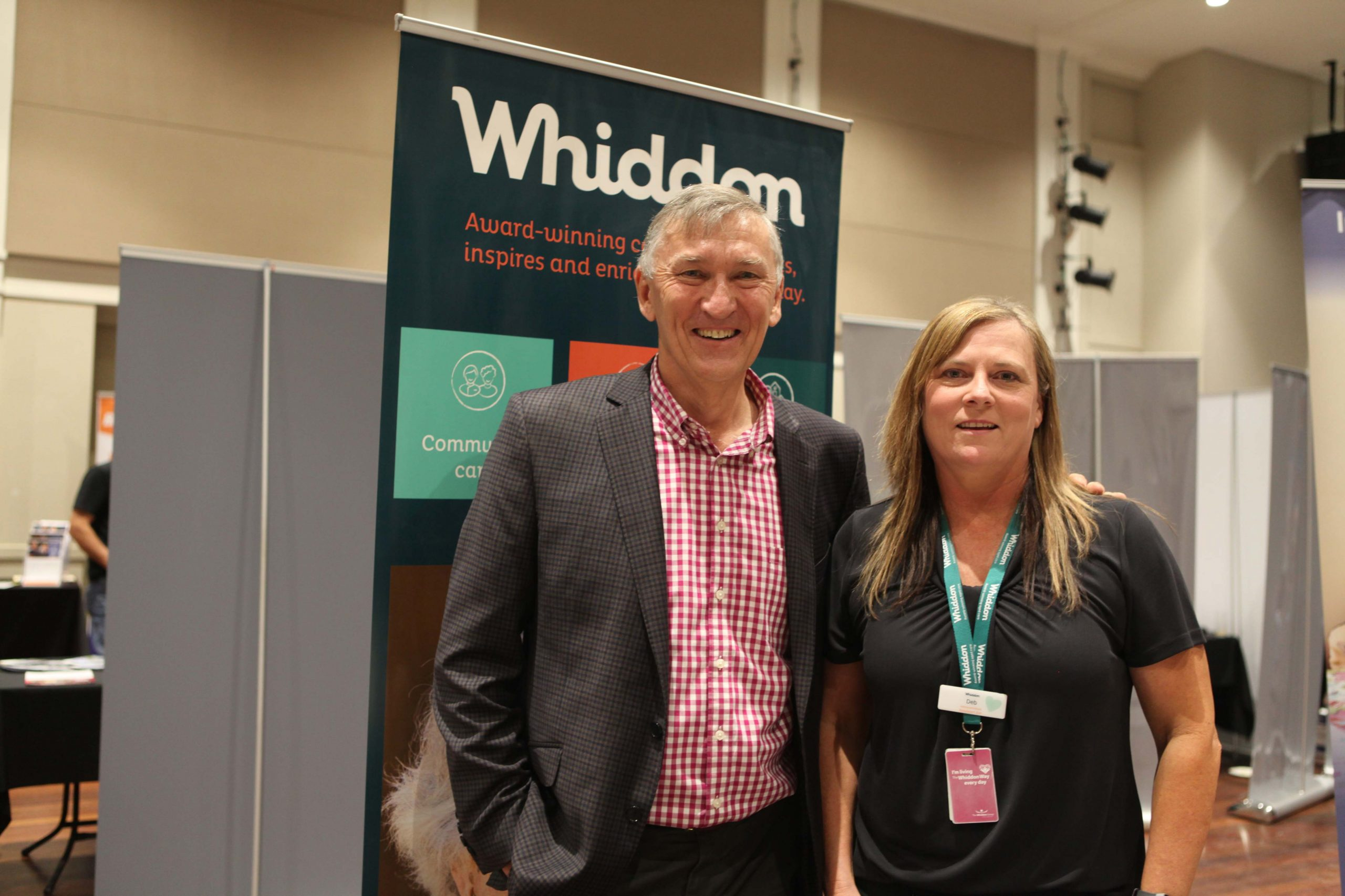 Mayor Greg Christensen with Deb Mair of Whiddon Star.