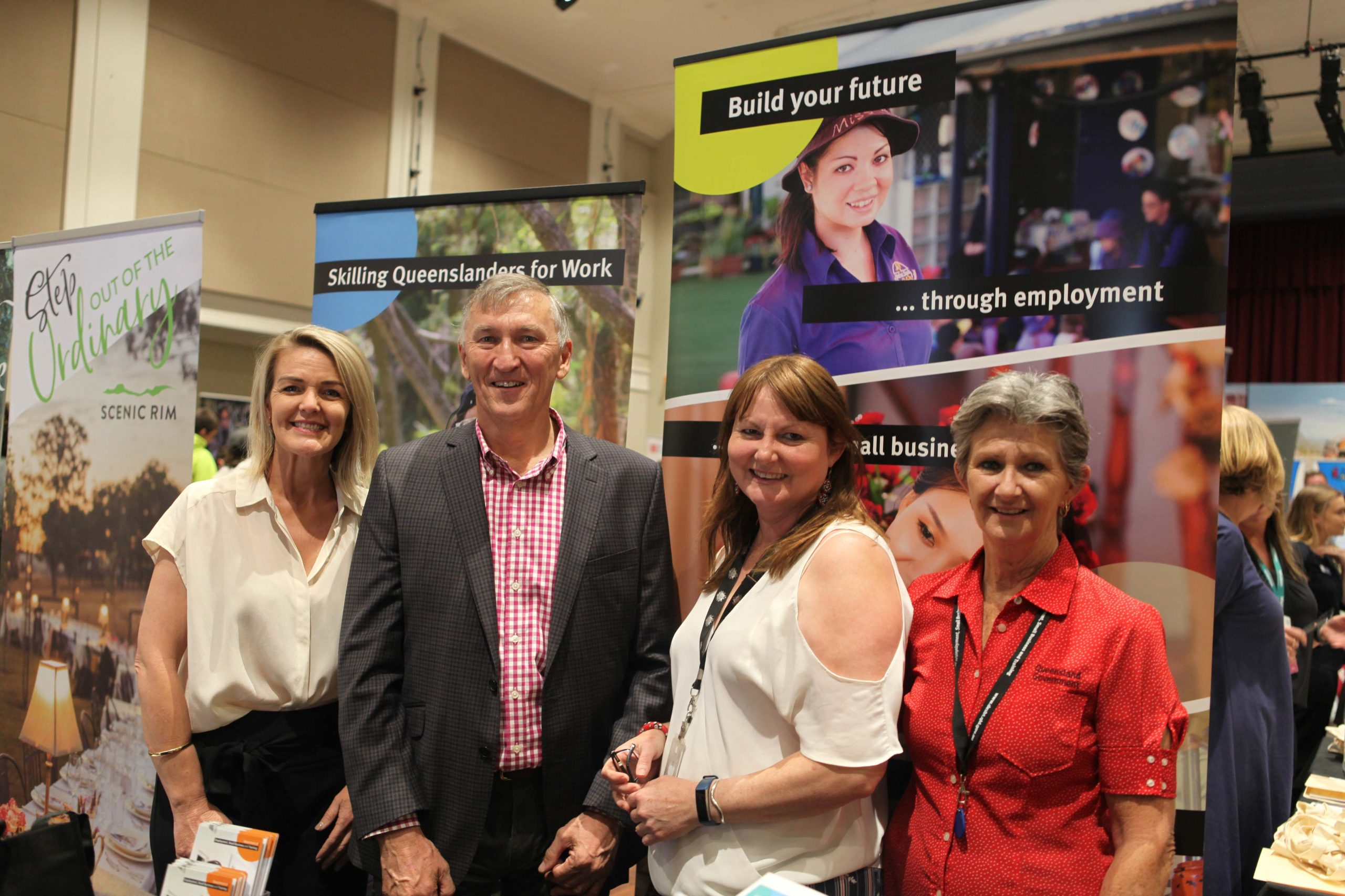 Deanne McInally of Department of Employment, Small Business and Training (DESBT), Mayor Greg Christensen, Sandee Harris of Australian Department of Employment and Kym Hudson of DESBT.