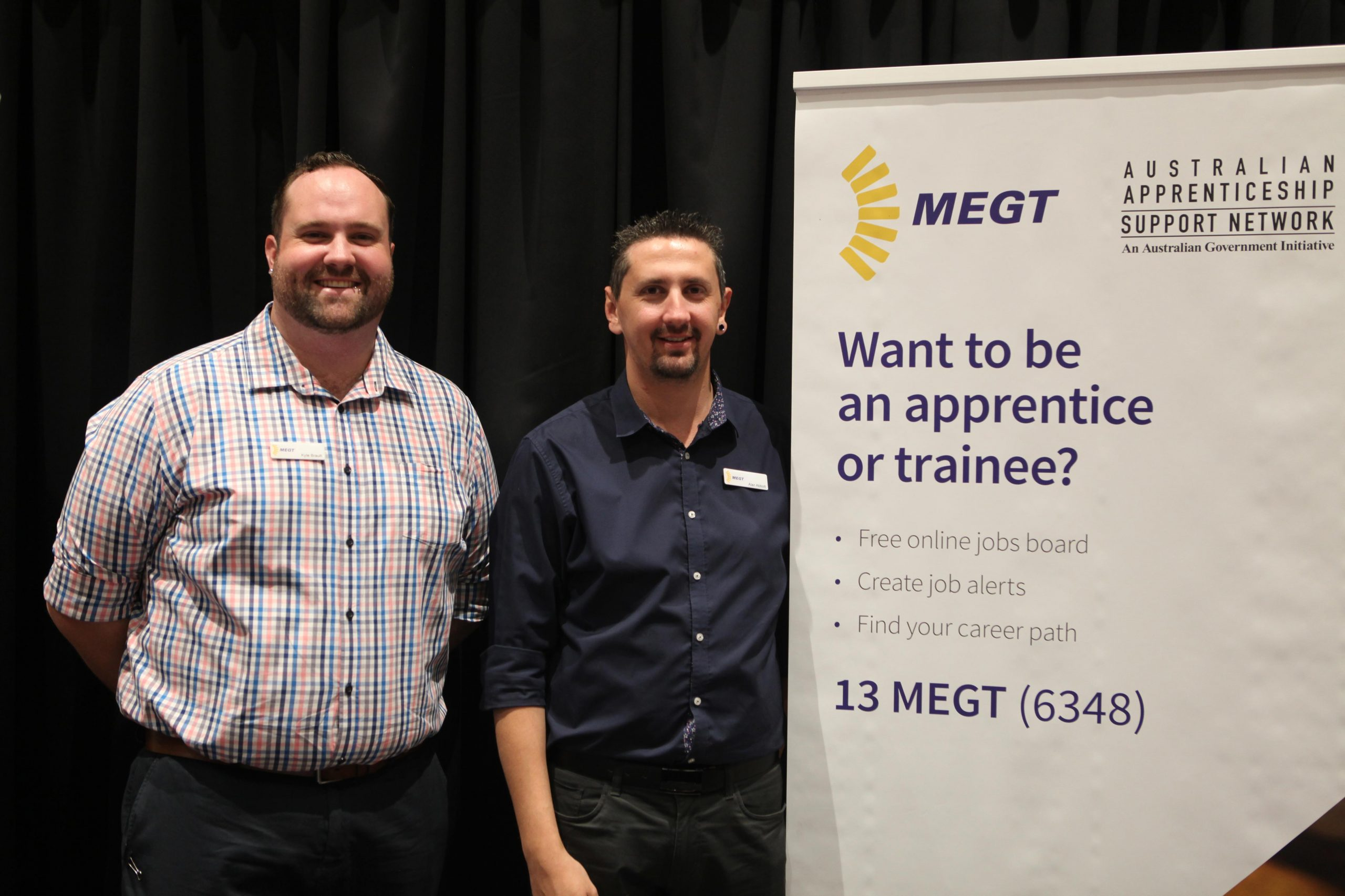 Kylee Brault and Alan Abbott of MEGT.