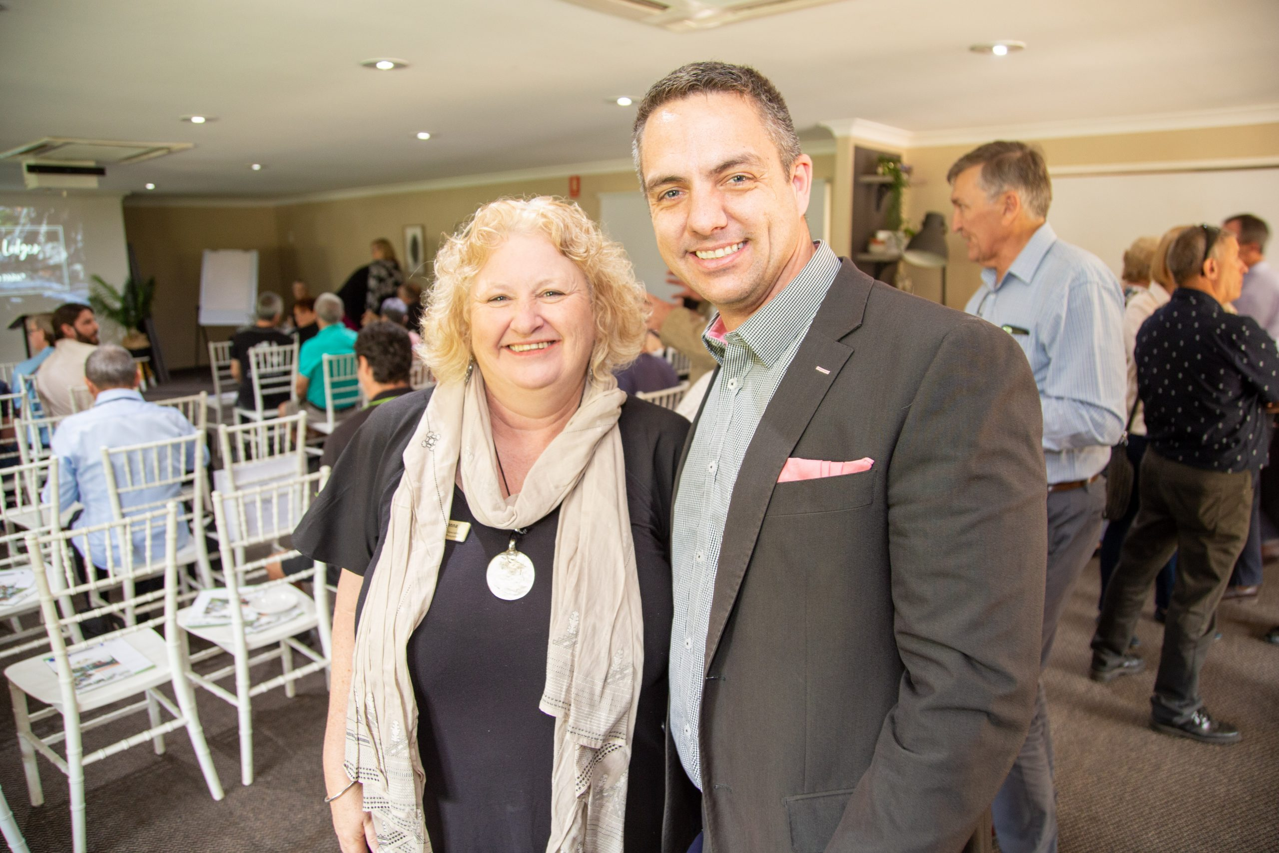 Donna Foster, Scenic Rim Regional Council, Craig Royle, Songbirds Restaurant and Accommodation.