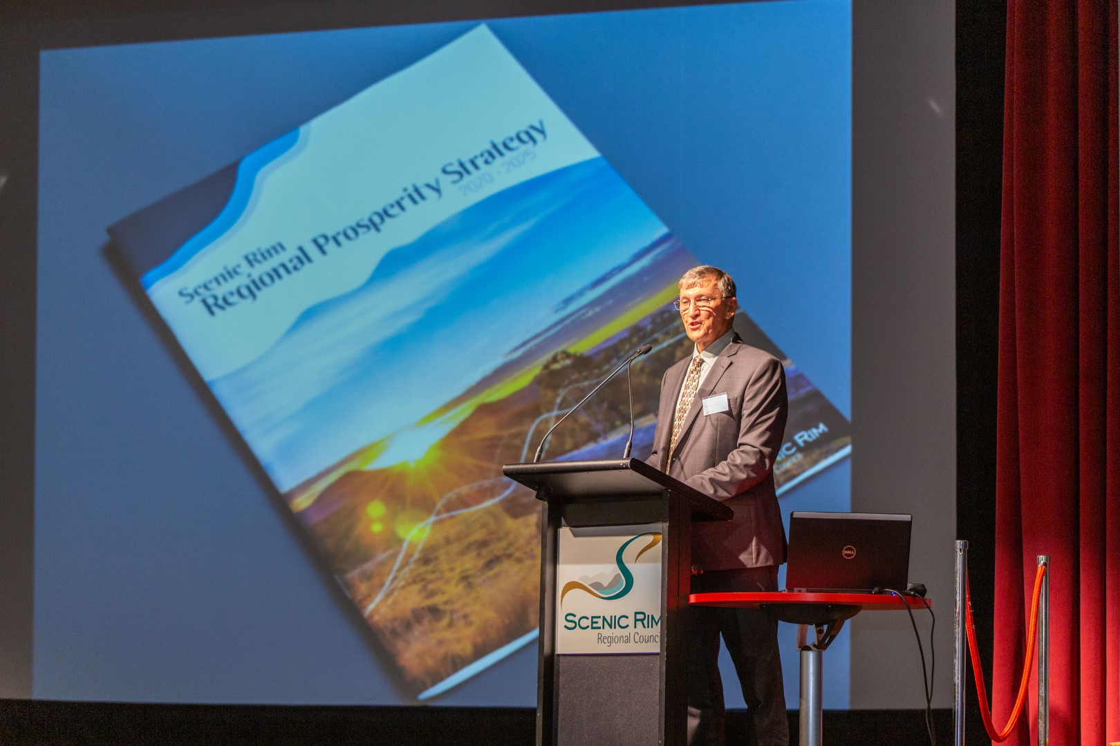 Scenic Rim Mayor Greg Christensen launches the Scenic Rim Regional Prosperity Strategy 2020 - 2025.