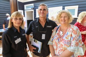Mandy and Brett Doyle of Cork N Fork and Wendy Webster of Scenic Rim Brewery. Tourism Showcase, Kalbar.