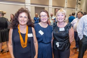 Keer Moriarty, Canungra Times, Michelle Roper-Dennis, My Country Escape and Lynne Milner, Eve by Nature Day Spa at the February business breakfast.