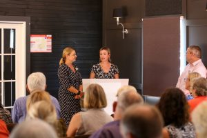 April Cornwell of White Chapel, Black Hall and Lindsay Lovett of Lovett at Kalbar. Tourism Showcase, Kalbar.