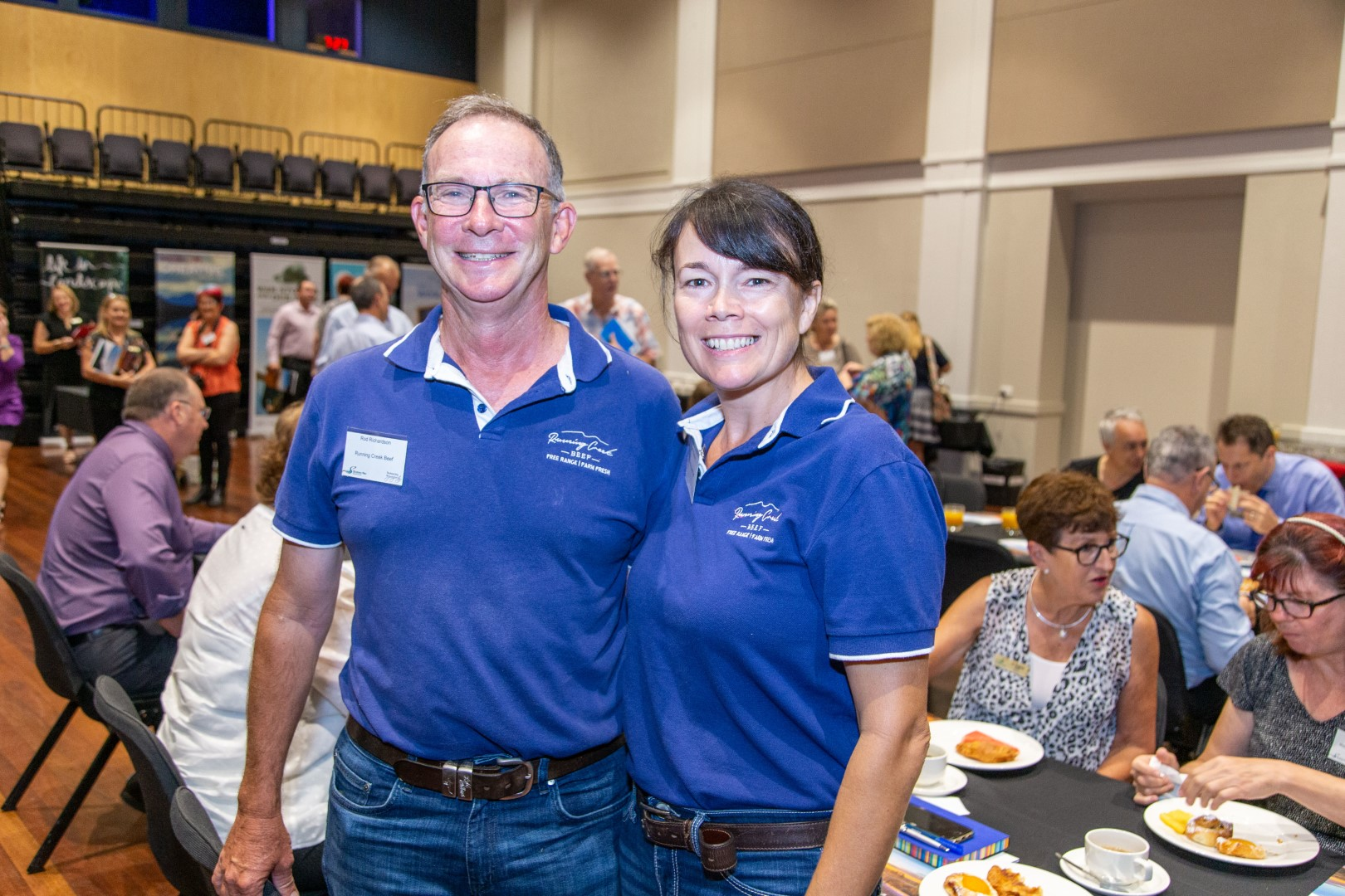 Rod and Debbie Richardson of Running Creek Beef at the February business breakfast.